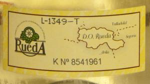 Rueda Verdejo Certificate