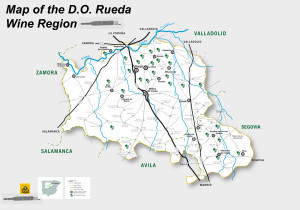 Map of Rueda,Spain