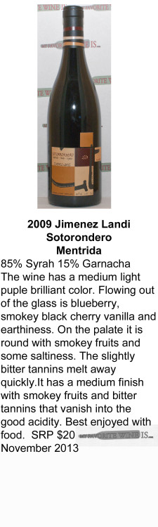 2009 Jimenez Landi Sotorondero for WEB