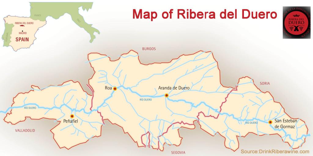 Ribera Spain Map