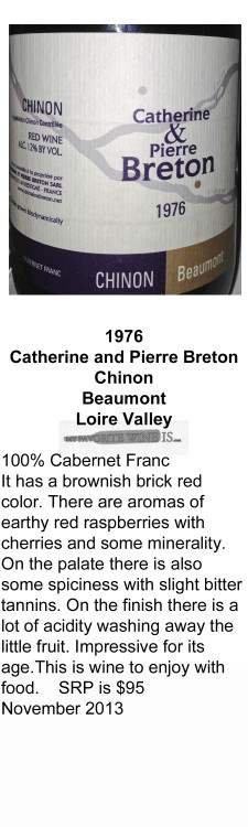 1976 Catherine and Pierre Breton Chinon for WEB
