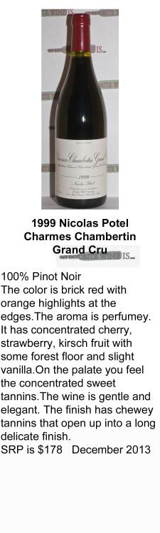 1999 Nicolas Potel Charmes Chambertin Grand Cru for WEB