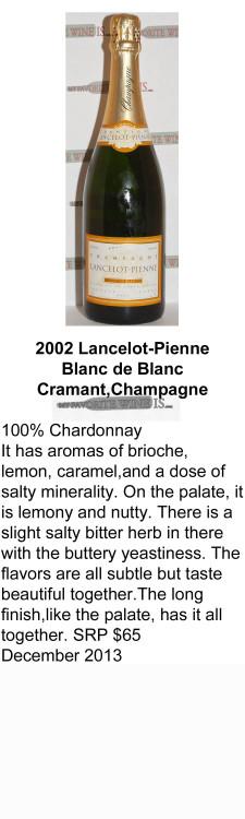 2002 Lancelot Pienne Blanc de Blanc for WEB