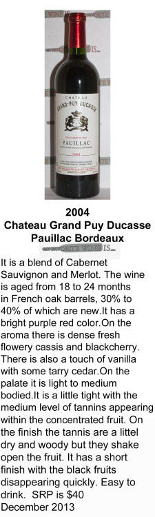 2004 Chateau Grand Puy Ducasse for WEB
