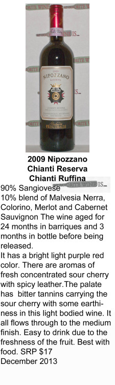 2009 Nipozzano Chianti Reserva for WEB