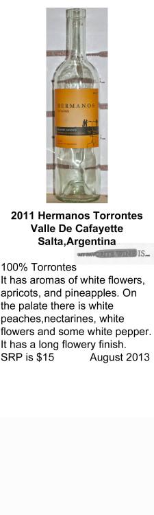 2011 Hermanos Torrontes for WEB