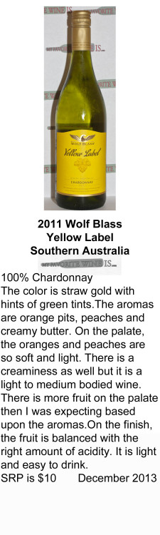 2011 Wolf Blass Yellow Label for WEB