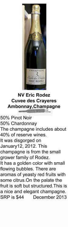 NV Eric Rodez Cuvee Des Crayereres for WEB