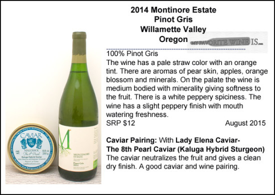 2014 Montinore Estate Pinot Gris Oregon