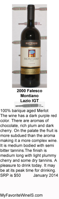 2000 Falesco Montiano Lazio My Favorite Wine Is