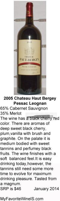 2005 Chateau Haut Bergey
