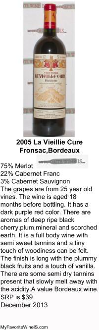 2005 La Vieillie Cure Wine Review