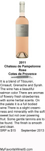 2011 Chateau de Pampelonne Rose My Favorite Wine IS