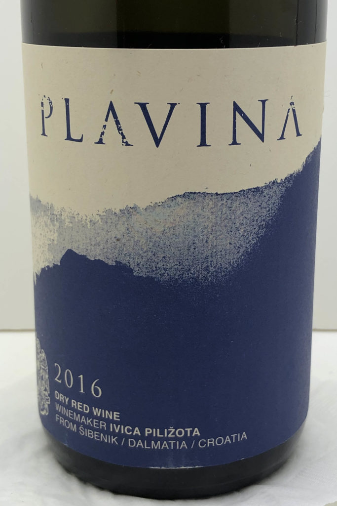 2016 Ivica Pilizota Plavina Wine from Croatia
