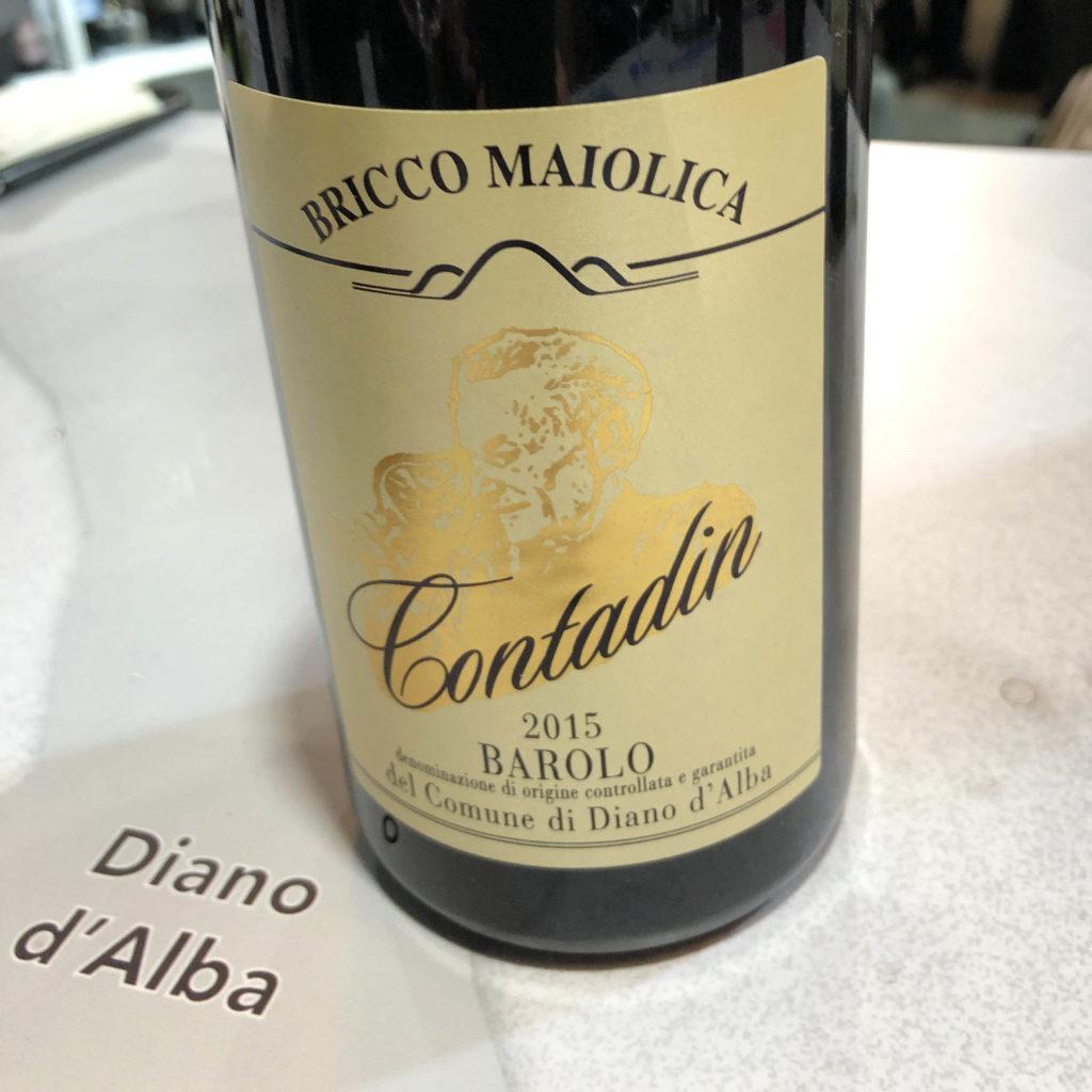 Contadin Bricco Maiolica del Comune di Diano d' Alba Barolo