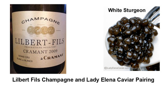 Lilbert Fils Champagne and Lady Elena Caviar Pairing