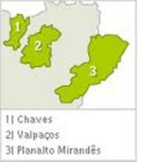 Map of the Sub Regions of Trás os Montes of Portugal