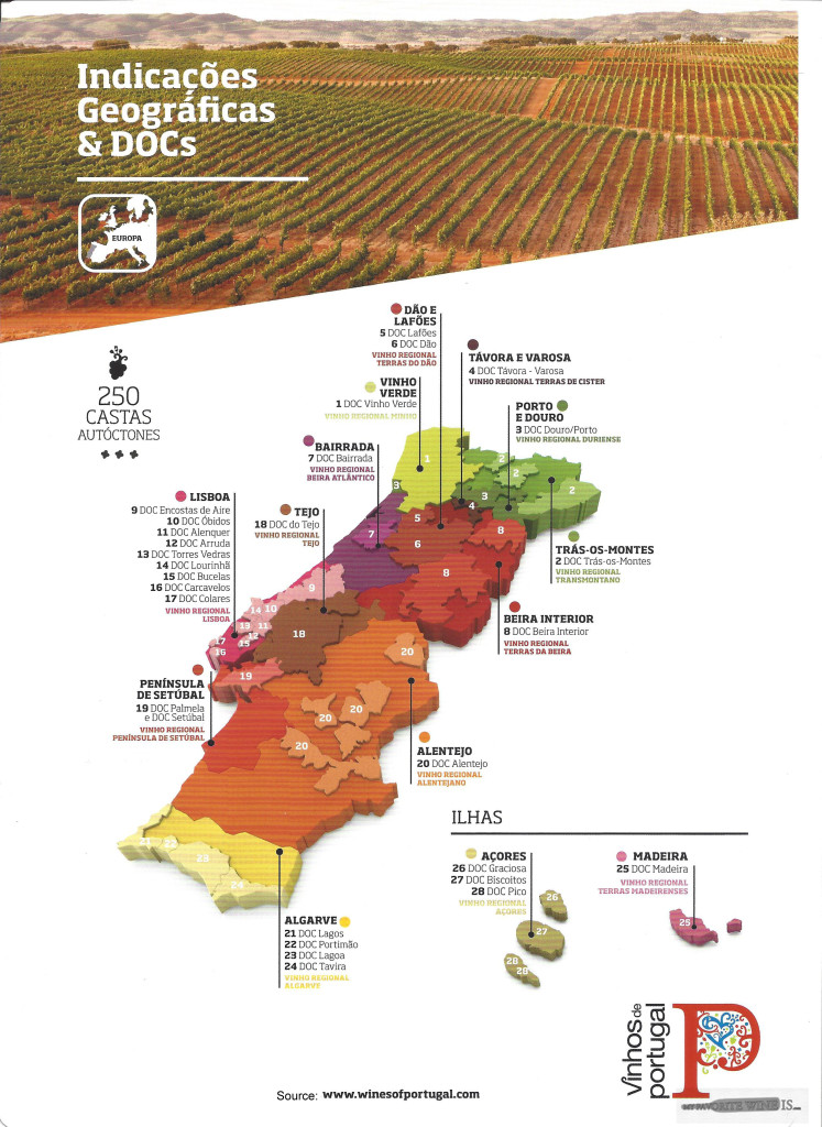Map of the Wine Regions of Portugal My Favorite Wine IS.com