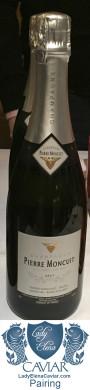 Pierre Moncuit Blanc des Blancs Gran Cru White Sturgeon Caviar pairing